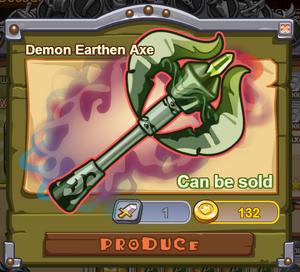 Demon Earthen Axe