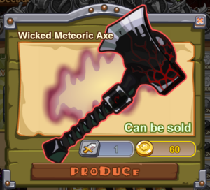 Wicked Meteoric Axe
