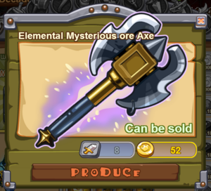 Elemental Mysterious Ore Axe