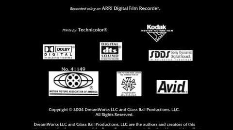 MPAA Glass Ball Productions Distributed by DreamWorks Distribution LLC DreamWorks Animation (2004)