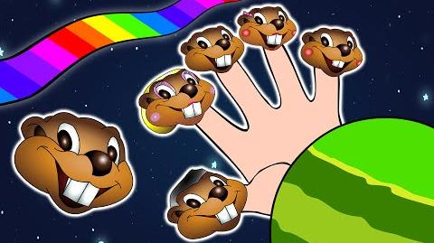 Finger Family Beaver Puppets Fun Educational Song, Preschoolers, Beavers in Space, Easy English