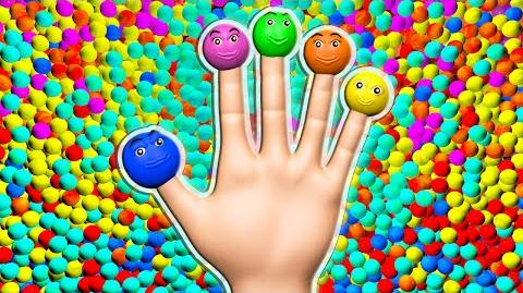 Ball Pit Finger Family 3D for Kids to Learn Colors Surprise Eggs Nursery Rhymes Children's Song