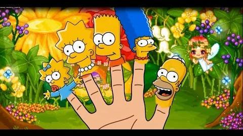 The Simpsons Finger Family Nursery Rhyme cartoon youtube