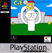 Geo Adventure PS1 cover Platinum