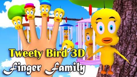 Tweety Bird Finger Family Nursery Rhymes 3D Animation In HD From Binggo Channel