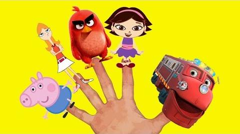 Chuggington Little Einsteins Angry Birds Phineas and Ferb Peppa Pig Finger Family Song