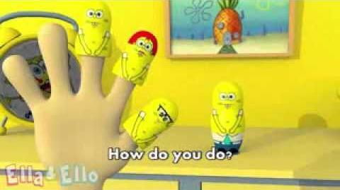 3D Spongebabe Matryoshka Finger Family Nursery Rhyme Ella&Ello Official