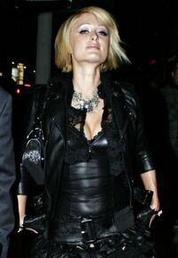 Paris hilton goes goth