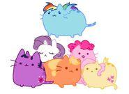 14410 - applejack cats cute d'aww dawww fluttershy pinkie pie rainbow dash rarity twilight sparkle