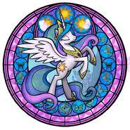 79478 - Kingdom Hearts artist akili-amethyst celestia luna stained glass