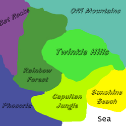 Rainbow Forest map