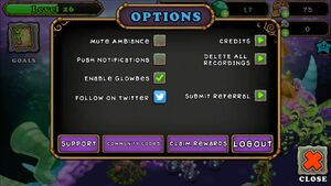 Options menu old