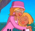 Mrs. Payne comforting Cynthia
