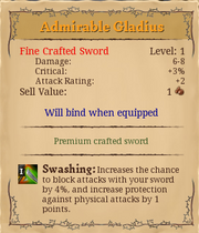 Admirable gladius