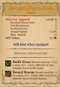Savage fierce belt