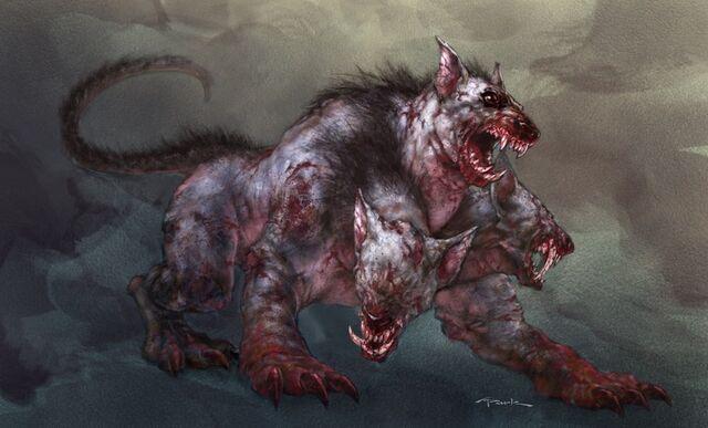 File:Mole Cerberus concept art in God of War II.jpg