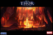 Muspelheim in Thor The Video Game