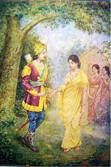 File:220px-1940s Vintage Hindu Print Dushyant & Shakuntala.jpg