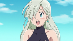 Elizabeth happily accepting Meliodas offer