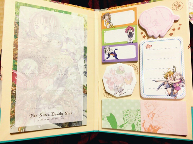 File:Volume 17 LE Notebook sticky stikers.png