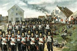 The Old Guard marched forward at Montmirail.