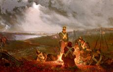 Sullivan,WilliamHolmes The Bivouac, The British Lines The Night Before The Battle Of Waterloo, June 17th 1815
