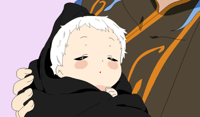 File:Gus holding his youngest child, Manic.png