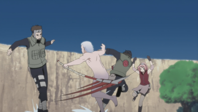 File:Yamato and Sakura vs Hidan and Hayate.png