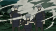 Tobirama creating Shadow Clones.png