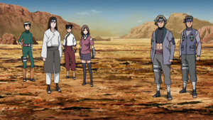 Neji Leading Resue Team