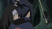 Sasuke receives curse seal