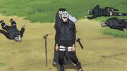 Kurozuka being used as a shield