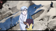 Mitsuki smile at Sasuke and Sarada