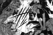 Sakura protects Sasuke from Gaara
