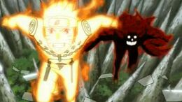 Naruto and killer bee in tailed beast chakra control