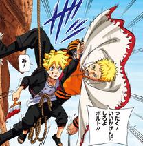 Boruto surprised by Naruto