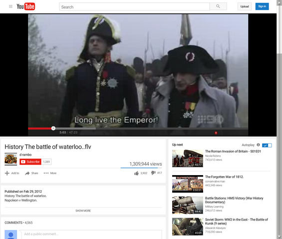 File:History The battle of waterloo..flv - YouTube 13.png