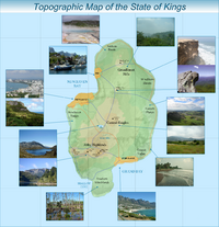 Kings topographic and nature