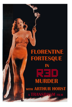 Red murder poster