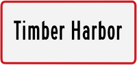 Timber Harbor sign