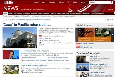 October Coup on BBC
