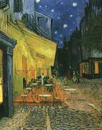 Van gogh cafe terrace on the place du forum arles at night the