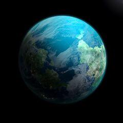 Senturia, an Earthlike world home to 6 provinces lying 100 light years from New Alaska.