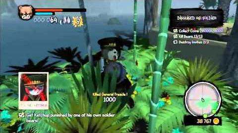 Naughty Bear Panic in Paradise - Diamond Axe - Retreat & Spa For War Heroes (Secret Temple Weapon)