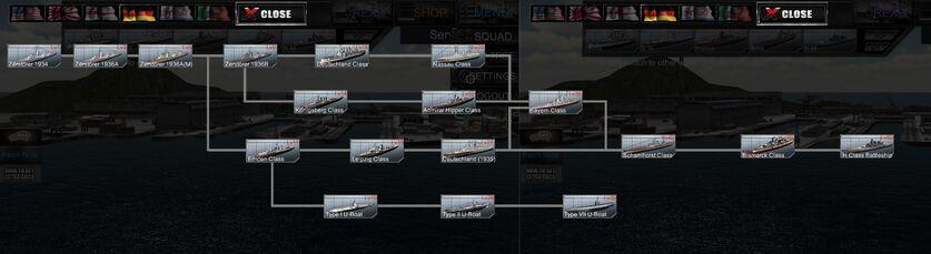 KM ship tree
