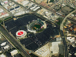 Oracle Stadium from SFO cc