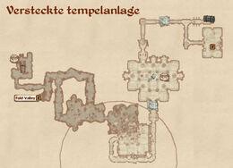 Versteckte tempelanlage map