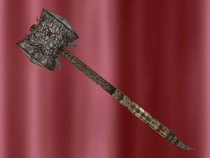 Runed Iron War Hammer