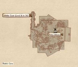 Pirate cave map