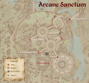 Arcane Sanctum map